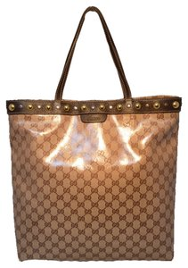 Gucci Studded Shopping Shopping Tote in brown