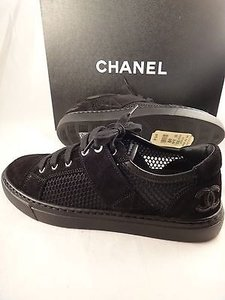 Chanel Mesh Suede Low Black Athletic