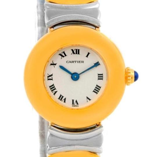 Preload https://item4.tradesy.com/images/cartier-white-casque-ladies-stainless-steel-18k-yellow-gold-watch-4443703-0-0.jpg?width=440&height=440