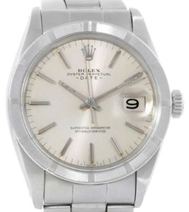 Rolex Rolex Date Mens Stainless Steel Vintage Silver Dial Watch 1501