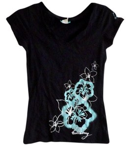 Billabong Cotton Floral T Shirt black