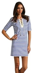 Juicy Couture short dress Navy & White on Tradesy