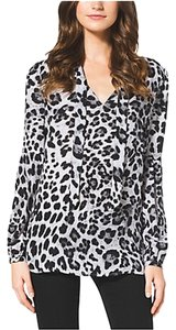 Michael by Michael Kors Top WHITE/GRAY LEOPARD
