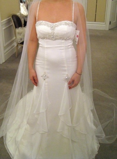 Alita Graham for Kleinfeld Ivory Silk Ser#31673189 Style Kg00 Sexy Wedding Dress Size 6 (S)
