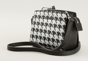 Michael Kors Houndstooth Saffiano Leather Selma Limited Edition Cross Body Bag