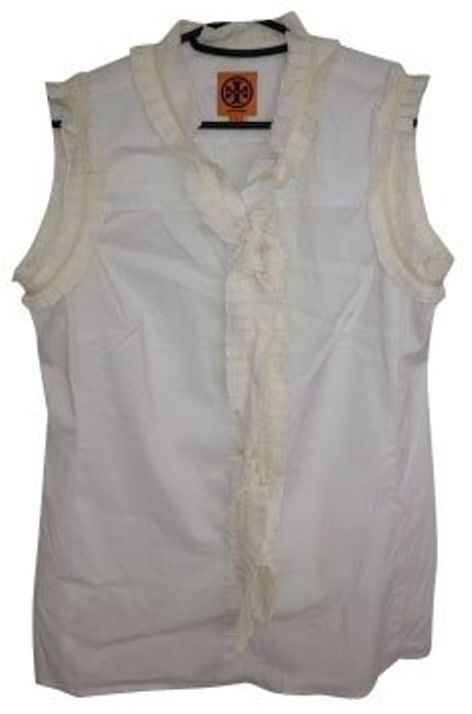 Preload https://item1.tradesy.com/images/tory-burch-white-blouse-size-4-s-445-0-0.jpg?width=400&height=650