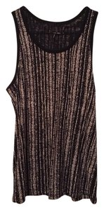 Rag & Bone Top Black and Beige Multi
