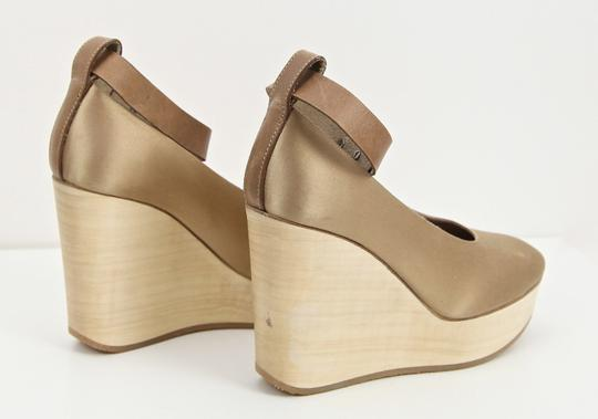 Chloé Champagne Wedges