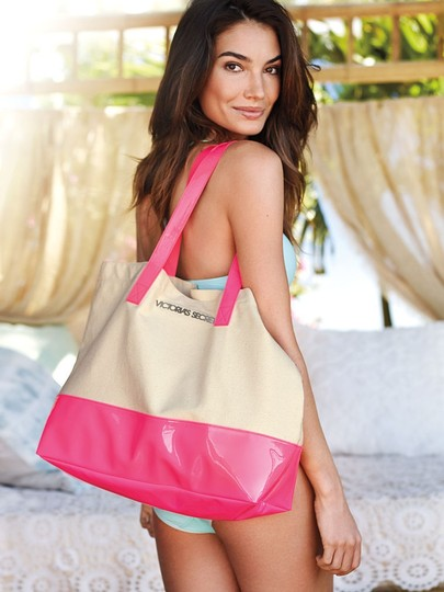 Victoria's Secret / Beige/Pink Beach Bag