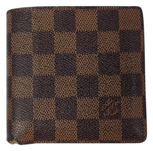 Louis Vuitton Louis Vuitton #2249 Damier Ebene Bifold Sqaure Wallet Zip Zippy Pocket Bill Holder Card Case Coin Purse