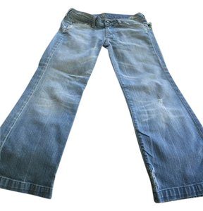 7 mankind Capri/Cropped Denim-Medium Wash