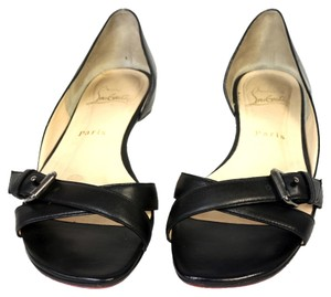 Christian Louboutin Reb Bottom Ballet Pumps Heels Neo Translucent Bandy Asteroid Black Flats