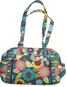 Vera Bradley Flower Shower brown teal orange yellow Diaper Bag