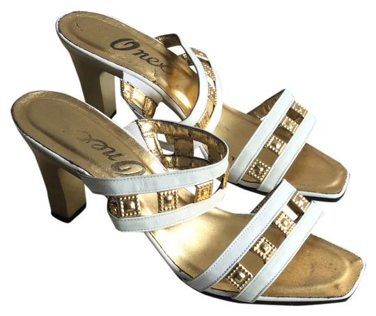 Other Metal White Gold Heal Decor Straps Sandals
