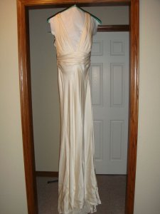 Nicole Miller Ivory Silk Co0025 Destination Wedding Dress Size 2 (XS)