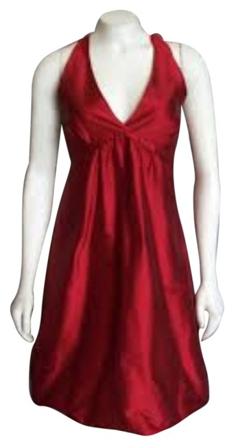 BCBGMAXAZRIA Silk Halter Party Dress