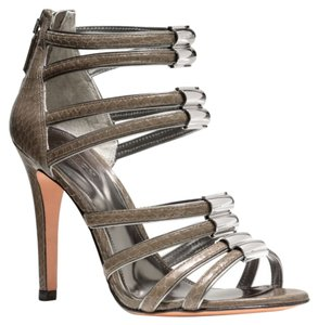 Coach Lanice Strappy Women Item Tags: Lanice Gloss Snake Grey Gray Pumps Pump A3778 Size 8 New With Box other Sandals