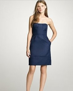 J.Crew Blue Cotton Erica 11428) Bridesmaid/Mob Dress Size 2 (XS)