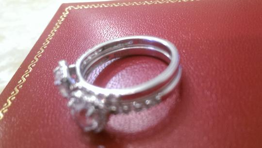 Other Zales White Sapphire double stackable ring