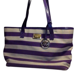 Michael Kors Tote in Purple and Grey