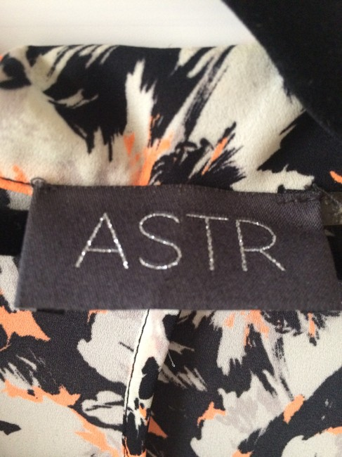 ASTR Pattern Black/White/Orange Blazer