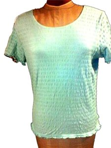 Ann Klein Crazy Horse Womans Tradesy T Shirt Baby Blue