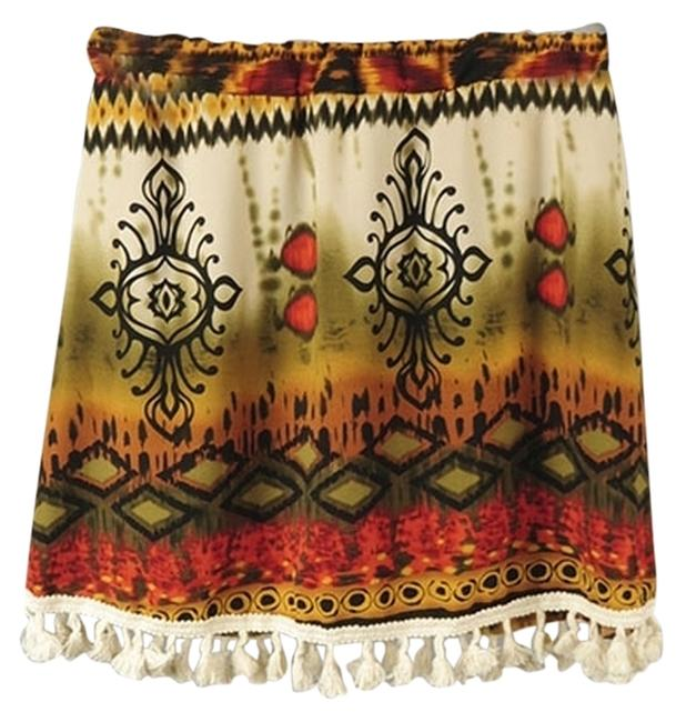 La Ropas Mini Skirt multi tribal