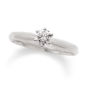 Zales 1/3ct. Diamond Solitaire Engagement Ring In 14k White Gold