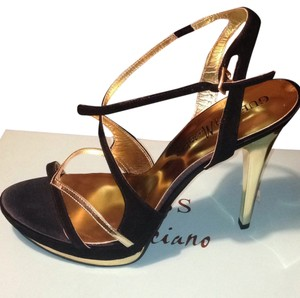 Guess By Marciano Black Suede & Gold Formal