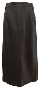 Herms Maxi Skirt chocolate brown