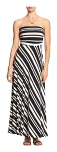 navy and white Maxi Dress by Banana Republic