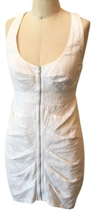 Ali Ro short dress White Designer Textured Summer Cotton Racerback Flirty Feminine on Tradesy