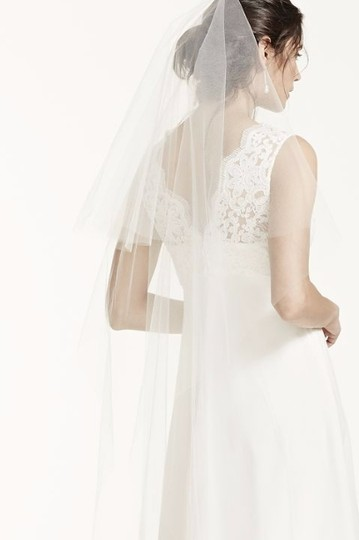 Zac Posen Ivory Long Two Tier Chapel Length Bridal Veil