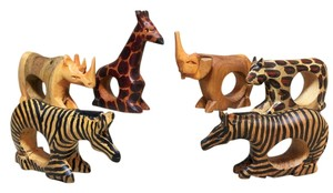 Serengeti Napkin Rings; Set of 6 [ SisterSoul Closet ]