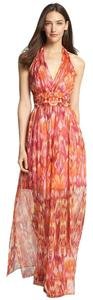 Orange Pink And Red Maxi Dress by Laundry by Shelli Segal