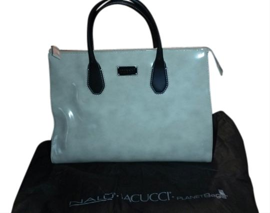 IACUCCI Satchel in ivory with black tim