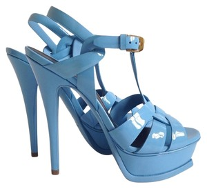 Saint Laurent Powder/Baby Blue Sandals