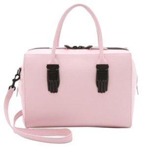 Opening Ceremony Peral Fancy Leather Satchel in Petal Pink
