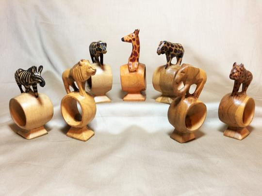 Other Serengeti Pedestal Napkin Rings; Set of 7 [ SisterSoul Closet ]