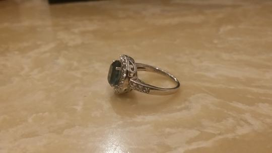 Other Sterling Silver Blue White Sapphire Cluster Ring