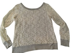 Bordeaux Lace Cotton Sweater