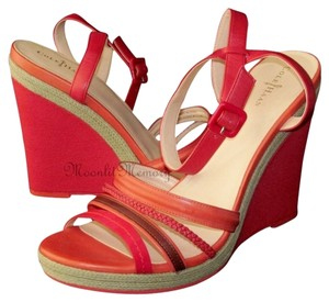 Cole Haan Sandal Wedge Platform Red Red, Orange Wedges