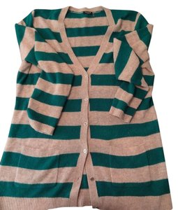 Magaschoni 100% Cashmere Stripes Cardigan