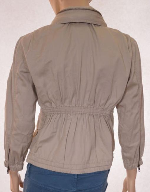 JOE'S Jeans Womens Khaki Hidden Hood Zip Up 34 Sleeve Coat Beige Jacket