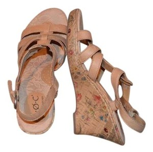 B.O.C. Leather Cork Beige Sandals