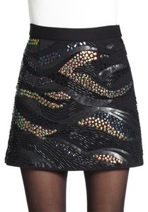 Nanette Lepore Mini Skirt Black embellish