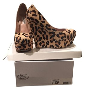 Steve Madden Womens Nordstrom Pony Hair Leopard Wedges