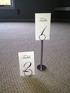 Silver Table Number Holders Reception Decoration