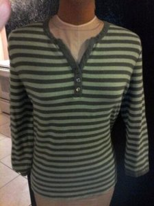 Croft & Barrow Womans Clothing Top green and grey