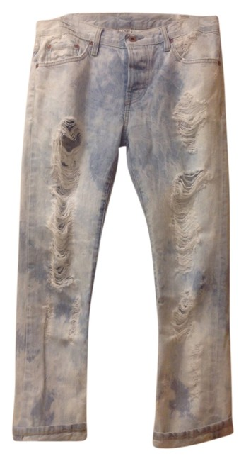 Free People Boyfriend Cut Jeans-Distressed